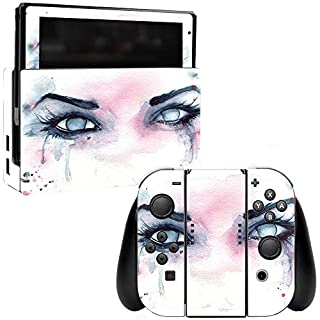 MightySkins Skin Compatible with Nintendo Switch - Haunted | Protective, Durable, and Unique Vinyl Decal wrap Cover | Easy to Apply, Remove, and Change Styles | Made in The USA