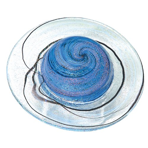 (Glass Eye Studio Rings of Saturn Blown Glass Paperweight)