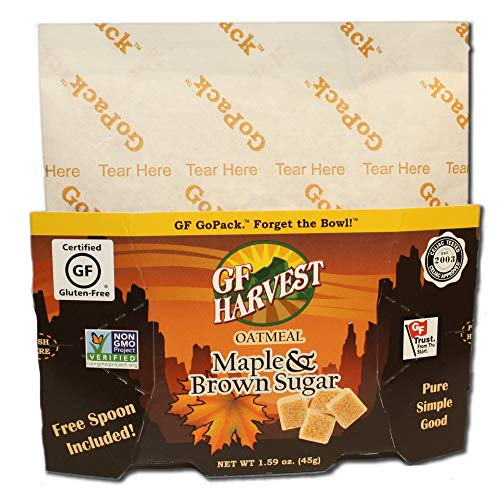 GF Harvest GoPack Single Serve Oatmeal Pack, 1.94 Ounce, Maple & Brown Sugar (Pack of 10) ()