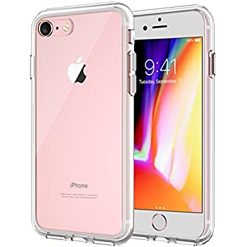 JETech iPhone 8 iPhone 7 Case Shock-Absorption Bumper Cover Anti-Scratch Clear Back (HD Clear)
