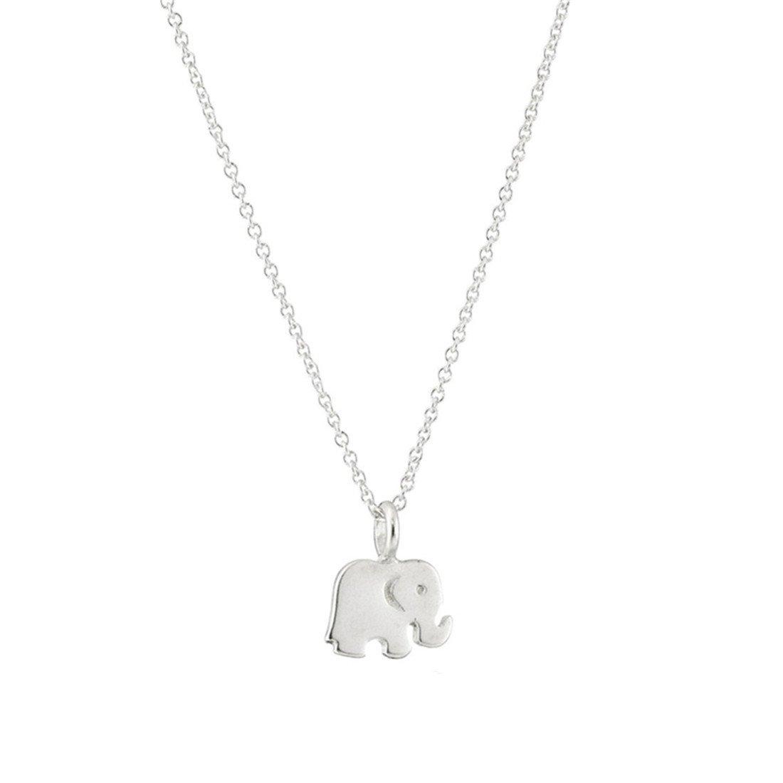 VWH Women Alloy Elephant Pendant Necklace Clavicle Bone Chain Necklace