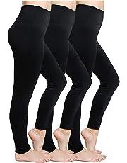 CakCton Womens Fleece Lined Leggings High Waist Buttery Soft Stretchy Warm Best Leggings - Regular/Plus Size