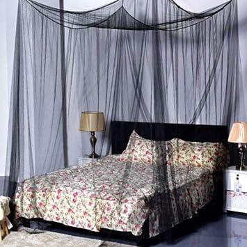 Hanyun 4/Coins Post Ciel de lit moustiquaire Full Queen King Size Filet Parure de lit