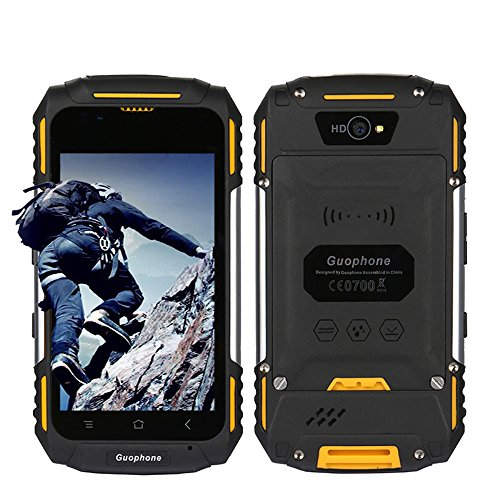 Waterproof Mobile Phone Dustproof Shakeproof Rugged GSM Smartphone Android 5.1 3G 4.0 inch Unlocked cell phone GPS Mtk6580 Dual-Core,Dual SIM Card Slot (yellow) by Hipipooo