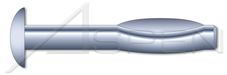 100 pcs Split Drive Anchors High Alloy Steel Round Head Zinc 1//4 X 2