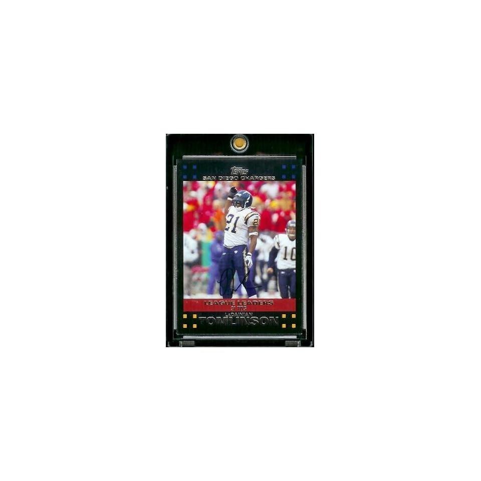 2007 Topps Football # 404 LaDainian Tomlinson LL   San Diego Chargers