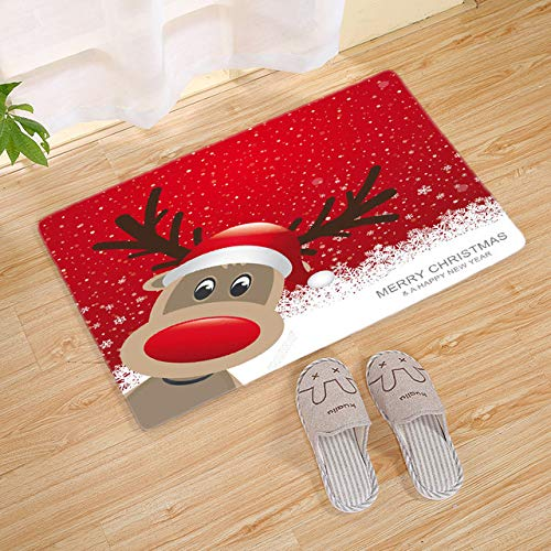 Merry Christmas Door Mat Santa Claus Outdoor Carpet Christmas Decorations for Home Xmas Party Favors New Year - B (Door Mats Xmas)