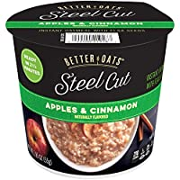 Post Better Oats Steel Cut Instant Oatmeal cups, whole grain, Apples and Cinnamon...