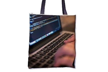Trabajo, escritura, ordenador, portátil Allover impresa bolsos, Popular Totes, Popular para