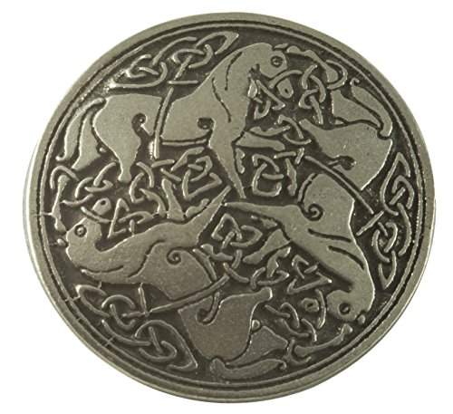 Giant Celtic Horse Buttons - Pewter (Card of 4) 1 1/4