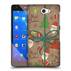Head Case Designs Doodle Christmas Gifts Protective Snap-on Hard Back Case Cover for Sony Xperia Z2a D6563
