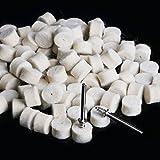 Drilax 100 Pcs 1/2 x 3/8 inch Wool Felt Polishing