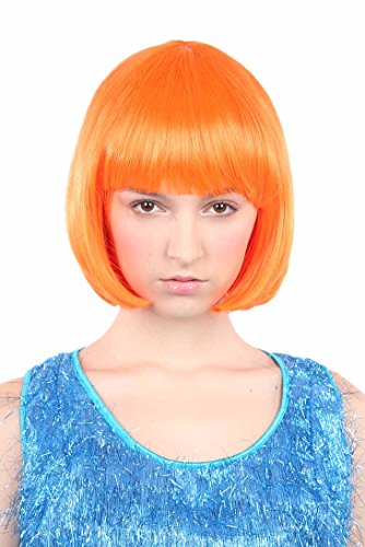 Orange Flapper Dress (Classic Flapper Wig, Neon Orange)