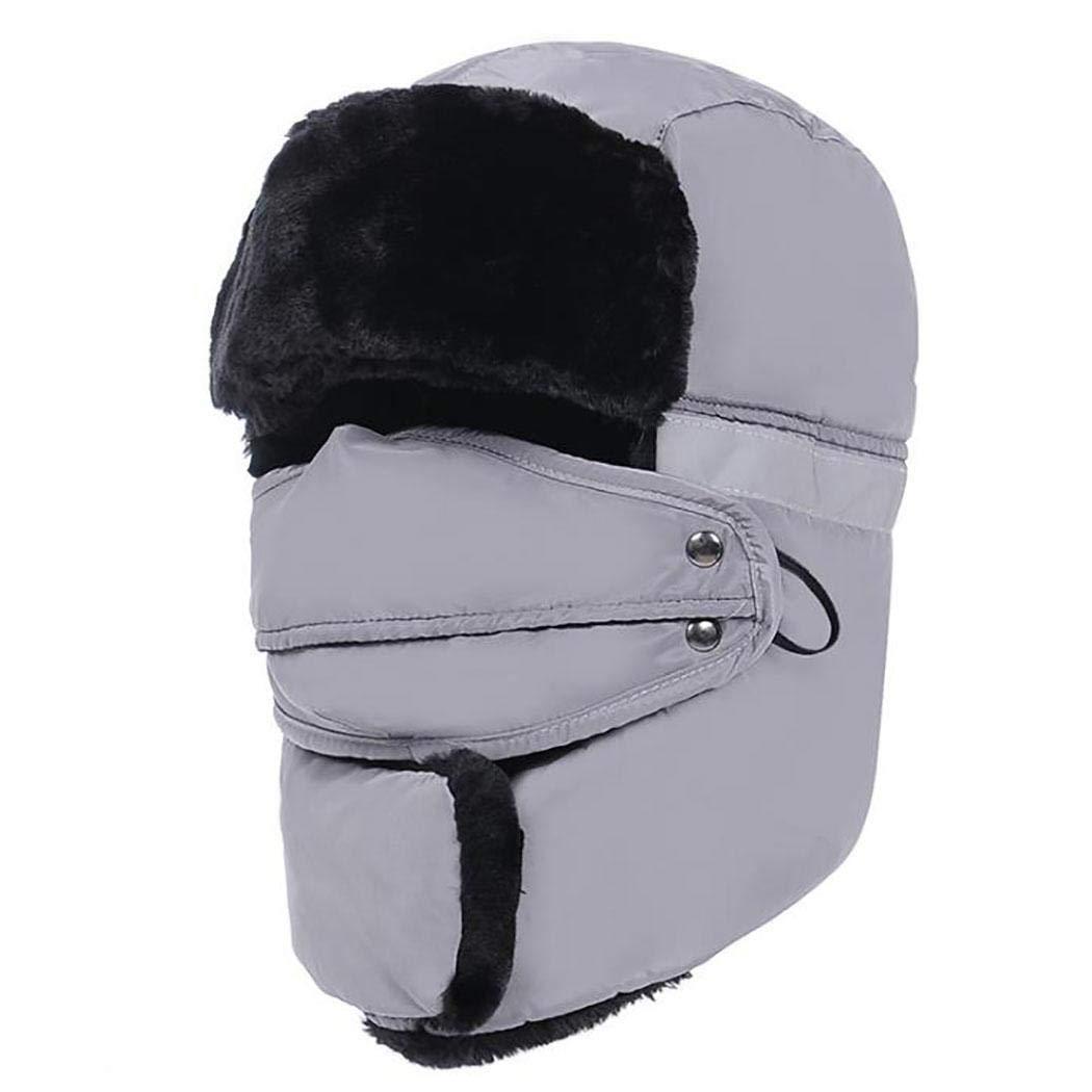 Fantiff Winter warme Mütze Ohrenschützer Plus samt Wasserdichte Außenreitmütze Allround-Helme