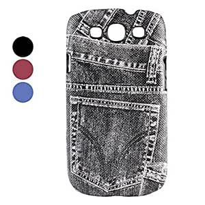Cool Jeans Style Hard Case for Samsung Galaxy S3 I9300 (Assorted Colors) --- COLOR:Red