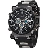 OOFAY® Men's Military Timepiece Big Size Dial Dual Times Alarm Chronograph Sports Watch