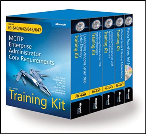 MCITP Self-Paced Training Kit Exams 70-640, 70-642, 70-643, 70-647 r : Windows Server/® 2008 Enterprise Administrator Core Requirements: Windows Server 2008 Enterprise Administrator Core Requirements
