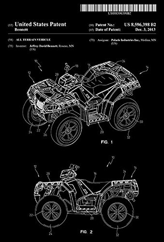 All Terrain Vehicle - J. D. Bennett - Patent Art Poster ()