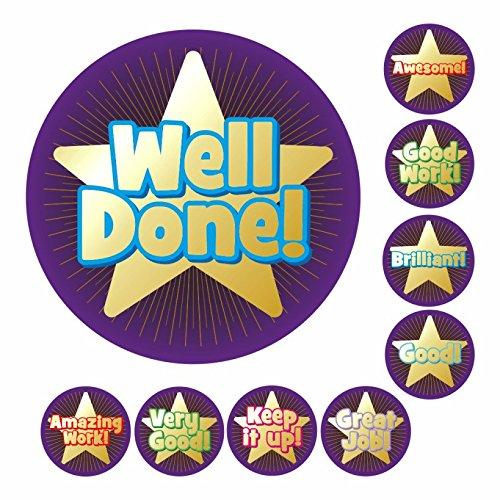 351 Mini Metallic Gold Starburst Stickers for Teachers Parents /& Schools