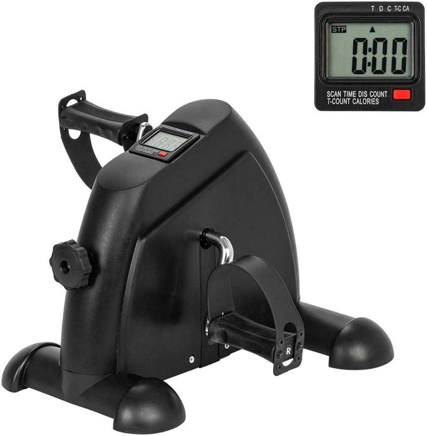AGKupel Mini Bicicleta Estática Pedales Estaticos Máquinas de Piernas Ejercitador de Pedal para Entrenamiento de Brazos y Piernas Ejercicio en casa LCD Pantalla y Resistencia Ajustable