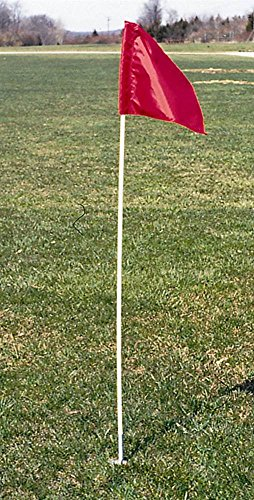Goal Sporting Goods Corner Flag Marker w Spring Base in Red - Set of ()