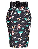 Kate Kasin Women's Stretchy Cotton Pencil Skirt Slim Fit Business Skirt