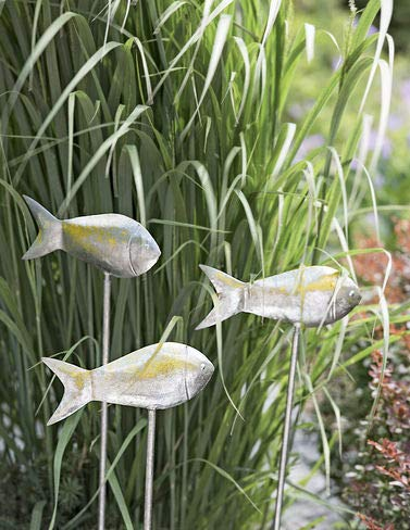 - Medium Fish Out of Water Garden Stakes, Set of 3