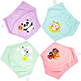 MooMoo Baby Training Pants 4 Packs Potty Training Underwear for Toddler Girl-4T-5T-XL: more info