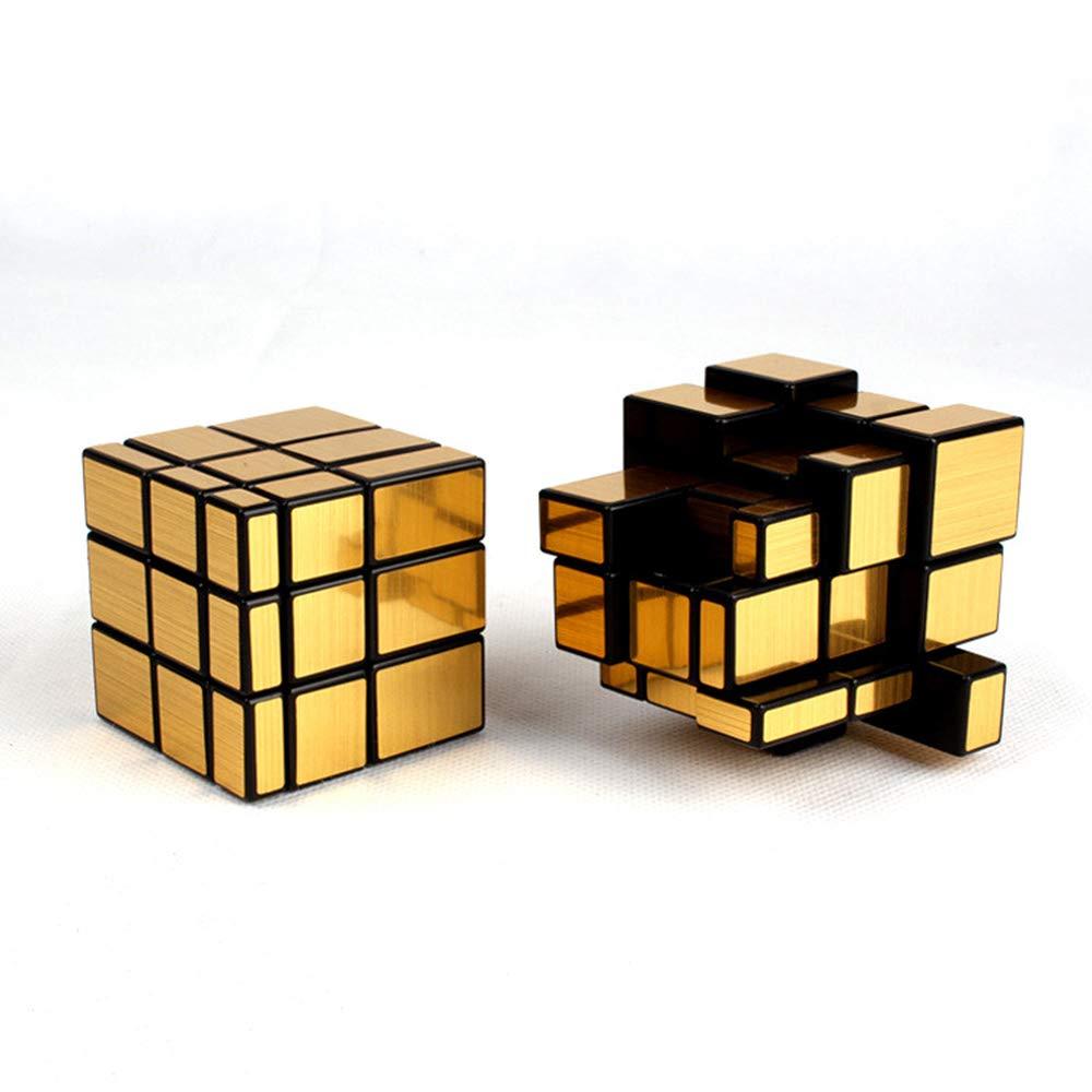 EP-Toy Zauberwürfel Spielzeug, Kreative Dekompression Gold Und Silber Gebürstet Aufkleber Spiegel Frühling Spiegel Aufkleber Shaped Cube, Pädagogisches Spielzeug für Kinder 7afcb2