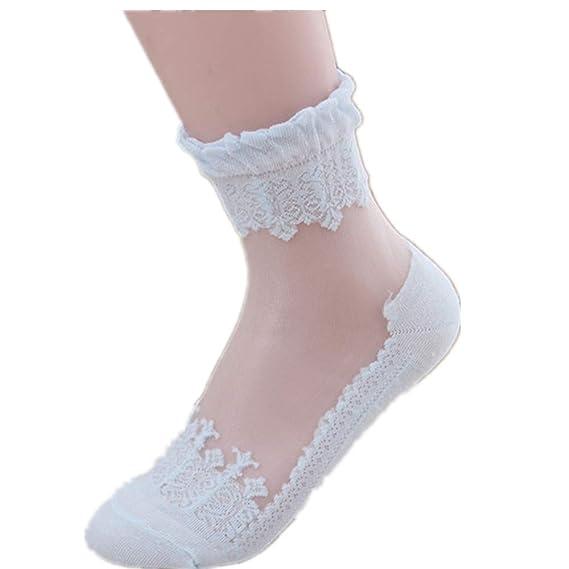 Ultrafino Transparente Hermoso Calcetines de algodón Calcetines Antideslizantes Calcetines de Deporte Calcetines Térmicos para Adult Unisex
