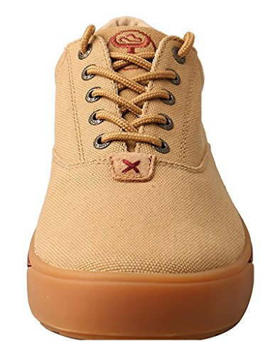 HOOey Casual Shoes Mens Lace Up Red Buckle Canvas 7.5 M Khaki MHYC003 vPh6k8LAX
