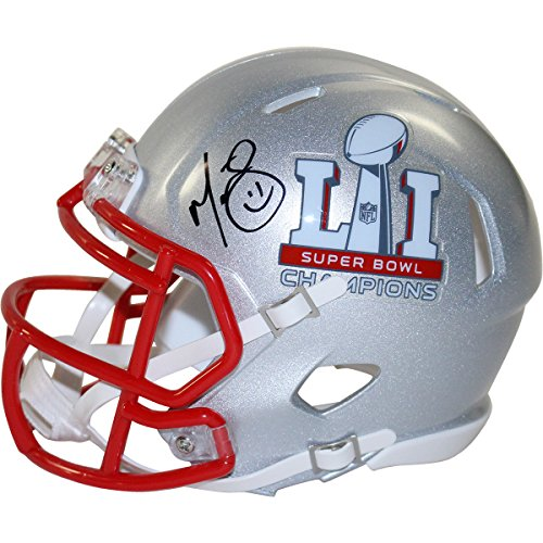 Martellus Bennett Signed New England Patriots Super Bowl 51 Champions Mini Helmet