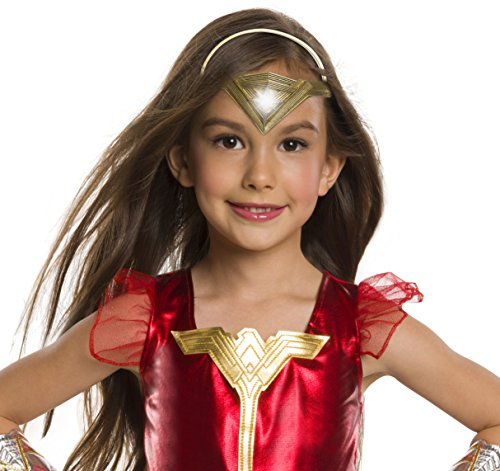 Young Justice League Costumes (Rubie's Costume Girls Justice League Wonder Light-Up Tiara Costume, One Size)