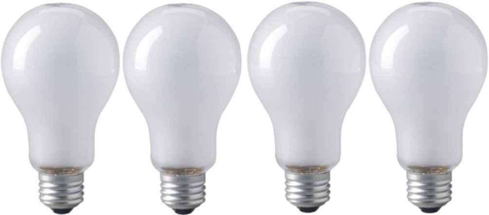 Eiko ECT 120V 500 Watt Inside Frosted Photoflood Lamp Bulb, Pack of 4