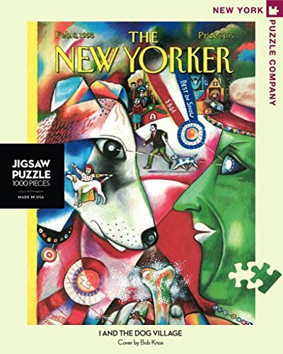 (New York Puzzle Company - New Yorker I and the Dog Village - 1000 Piece Jigsaw Puzzle)