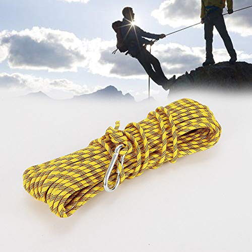 TFCFL 8mm Yellow Heavy Duty Static Rock Outdoor Climbing Rescue Parachute Rope Equipment 30 Meters from TFCFL