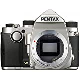 "Pentax KP Silver Body 24.32 Ultra-Compact Weatherproof DSLR with 3"" LCD, (Silver)"