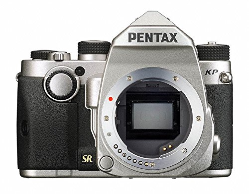 Pentax KP Silver Body 24.32 Ultra-Compact Weatherproof DSLR with 3″ LCD, (Silver)