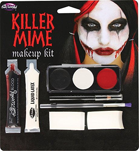 Killer Makeup Costume Clown (Killer Mime Makeup Kit, 5222KM, Fun)