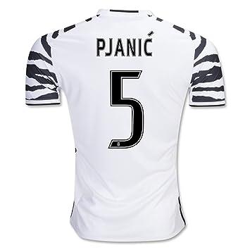 dcb965935 Juventus FC 5 Miralem Pjanic The Third Away Football Soccer Jersey New  Season Sportwear Kit In White  Amazon.co.uk  Sports   Outdoors