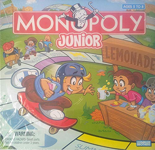 - Parker Brothers Monopoly Junior 2005 Edition Specially Designed for Ages 5 to 8