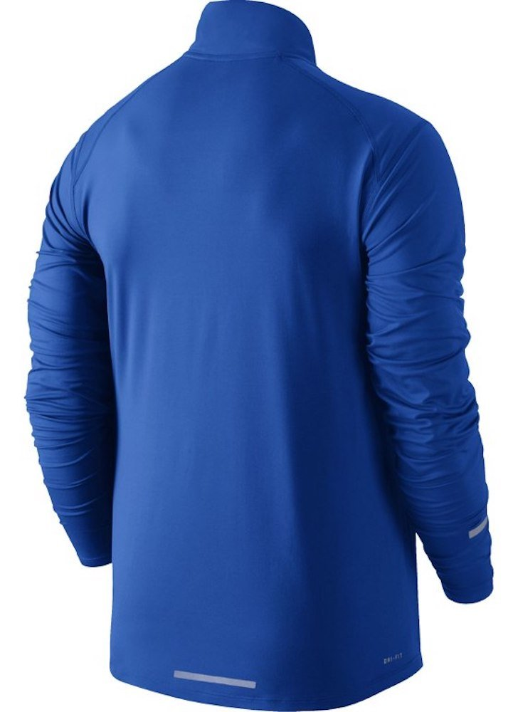 NIKE Men's Dry Element Running Top B01GTGLLTM Small|Paramount Blue/Reflective Silver