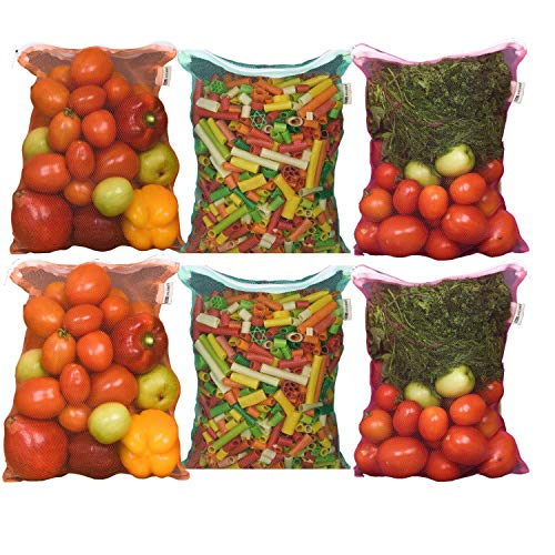 Earthy Fab Vegetable Storage Fridge Bags Eco-Friendly, Non-Toxic, Washable, Reusable, 27X33 cm, Pack of 6. Price & Reviews