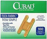 Medline Bandage Adhesive Fabric Knuckle, 100 Count