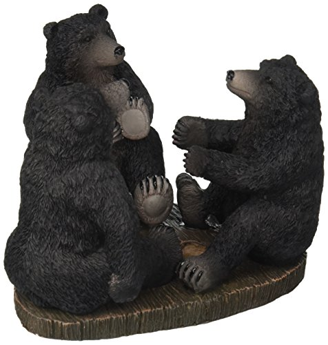 Avanti Linens Black Bear Lodge Toothbrush Holder, Multi