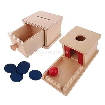 Und Hucha Para 1 Madera Educativos De Caja Flameer Niños Montessori QCxeWdorBE