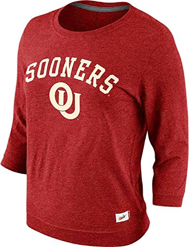 - Nike Women's Oklahoma Sooners Vault Hail Mary 3/4 Sleeve Top (Small, Crimson Red)