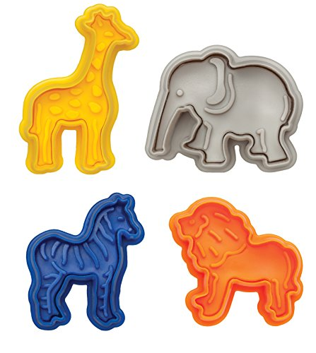 Mrs. Anderson's Baking 93249 Anderson's Animal Cracker Cookie Cutters, Set of 4, Multicolor -