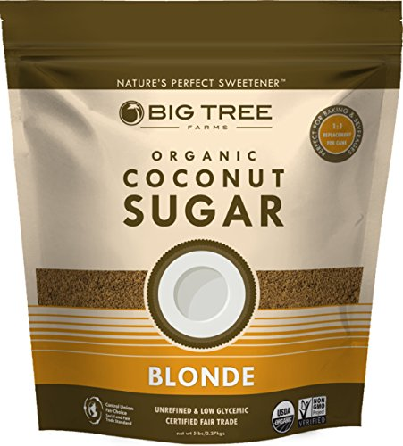 Big Tree Farms Organic Brown Coconut Sugar, Non-gmo, Gluten Free, Vegan, Fair Trade, Natural Sweetener, 5 Pound (Packaging May Vary)