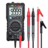 CAMWAY Digital Multimeter TRMS 9999 Counts Auto-Ranging Backlit VFC NCV Digital Meter, AC/DC Amp Volt Ohm Tester, Capacitance with Test Lead Probe & Banana Plug to Alligator Clips Heavy Duty
